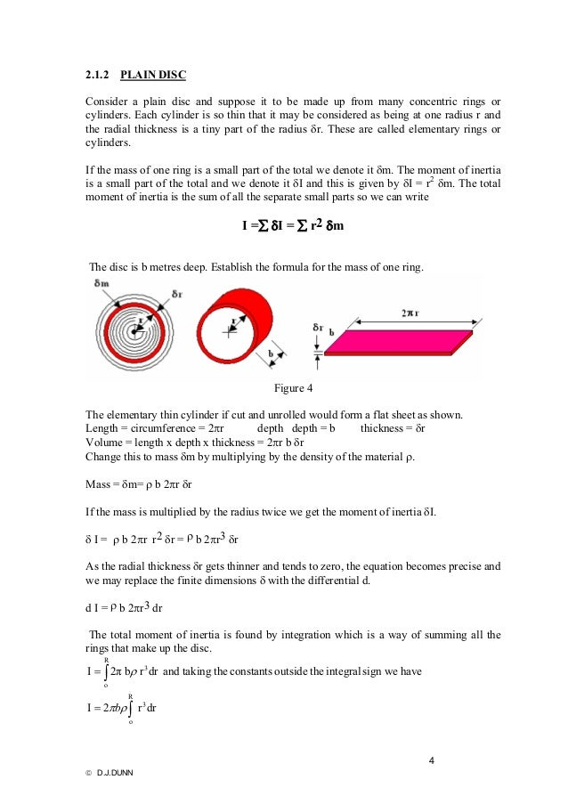 Free study calculation of inertia