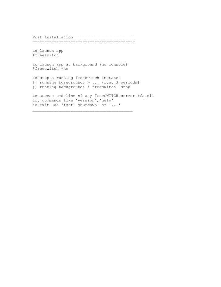 FreeSWITCH on RedHat, Fedora, CentOS