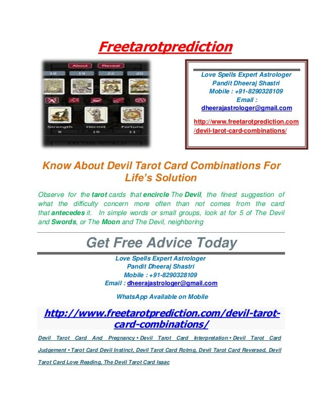 Know About Devil Tarot Card Combinations For Life's Solution
