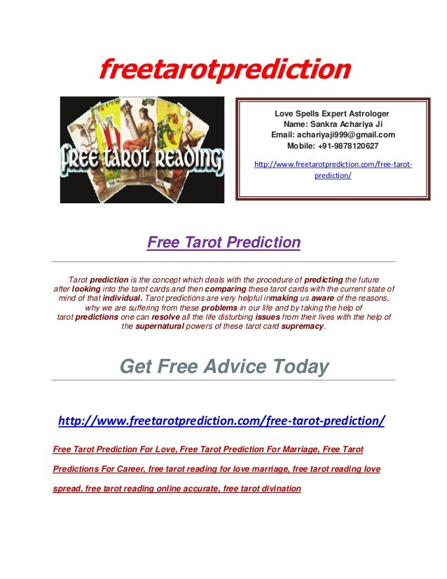 Free Tarot Prediction