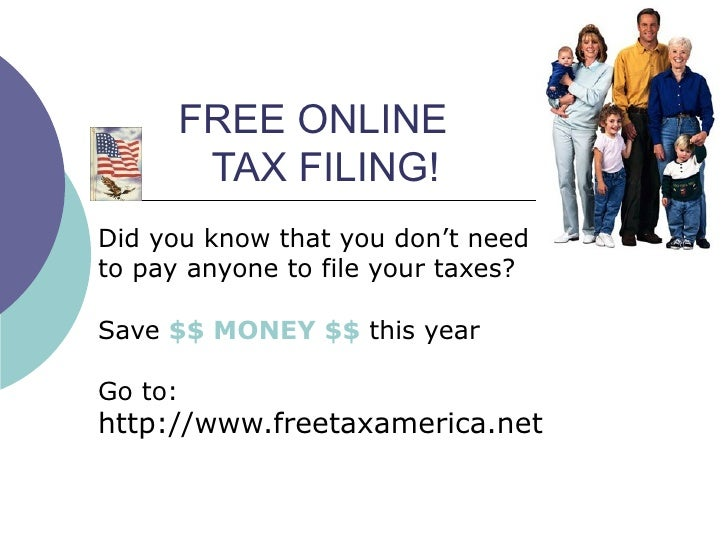 FREE ONLINE    TAX FILING! Did you know that you don't need  to pay anyone to file your taxes?  Save  $$ MONEY $$  this ye...