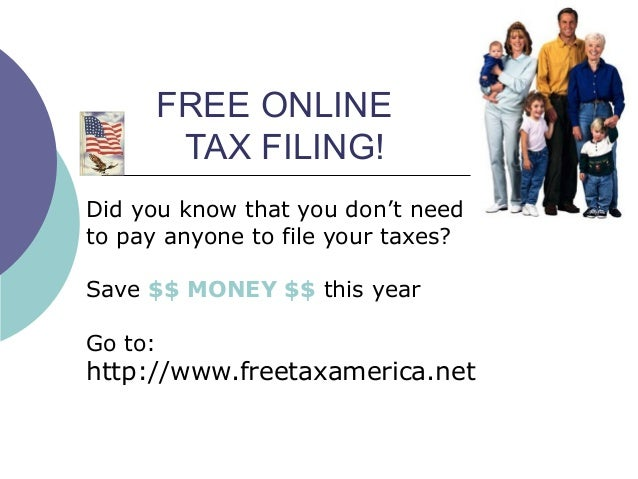 FREE ONLINE TAX FILING! Did you know that you don't need to pay anyone to file your taxes? Save $$ MONEY $$ this year Go t...
