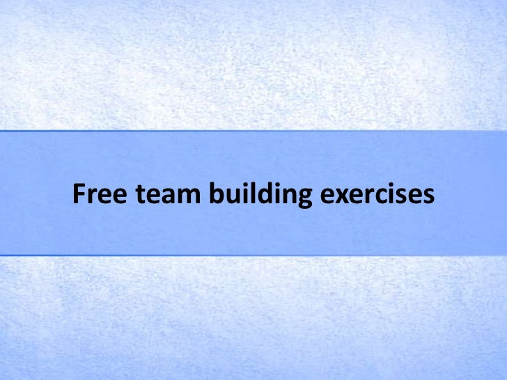 Free team building exercises