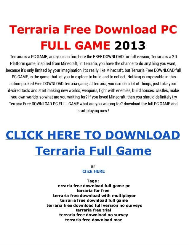 terraria full game free download pc
