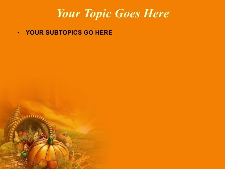 Thanksgiving powerpoint template roho4senses thanksgiving powerpoint template toneelgroepblik Images