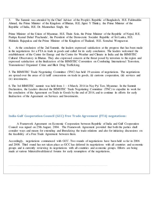 Indias Trade Agreements