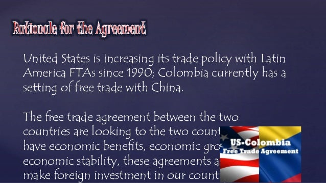 Free Trade Agreements Colombia