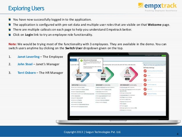 Exploring Users You have now successfully logged in to the application. The application is configured with pre-set data an...