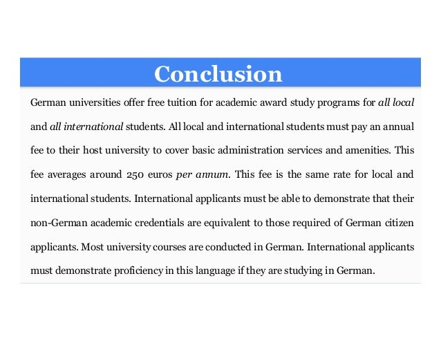 Free university in Germany for international students