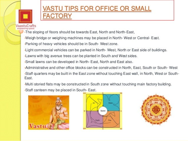 Vastu shastra tips for office or small factory Kitchen design tips as per vastu