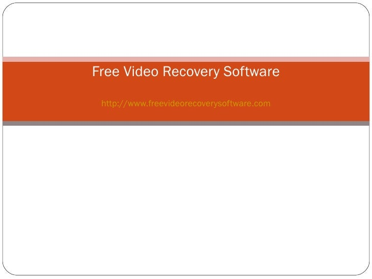 Free Video Recovery Software http://www.freevideorecoverysoftware.com