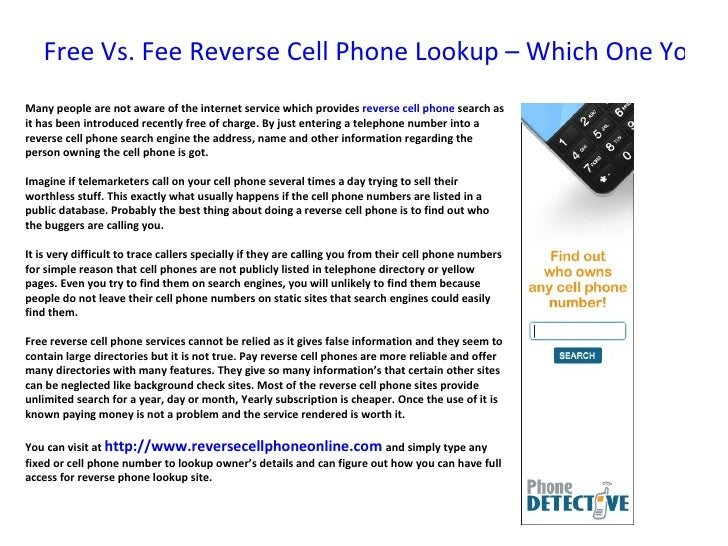 Free vs fee reverse cell phone lookup – which one you will choose