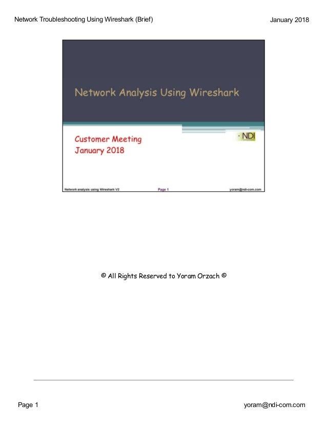 Network Analysis Using Wireshark Jan 18- seminar