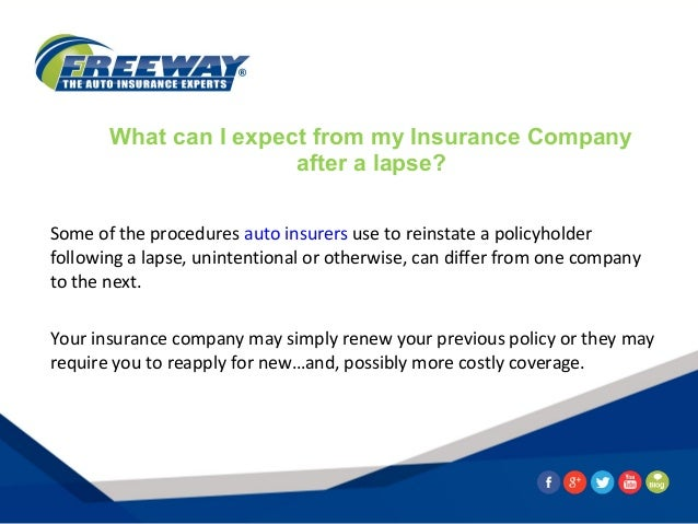 Car Insurance Policy Lapses
