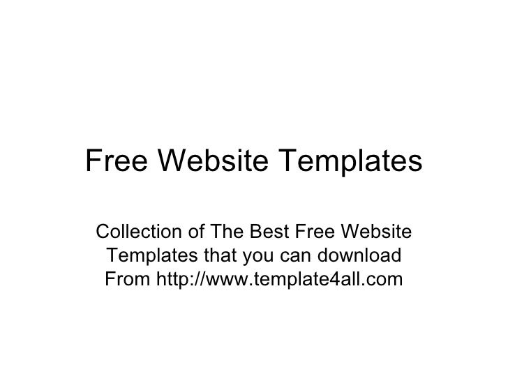 Free Website Templates Collection of The Best Free Website Templates that you can download From http://www.template4all.com