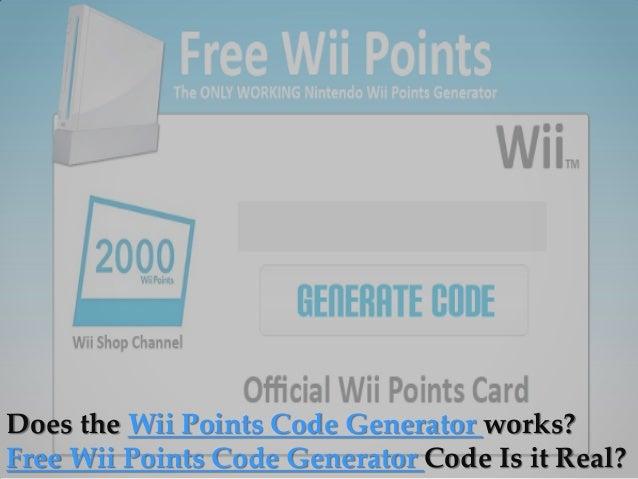 Free Wii Points Codes Online – Free Ticket Generator