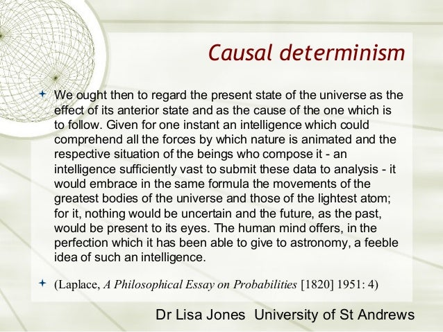 determinism free will and question essay A j ayer's essay freedom and ayer explores the question of naturalism that in this respect the antithesis between the claims of free will and determinism.