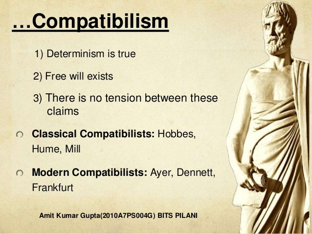 is our freedom compatible with determinism [determinism, chance and freedom, for in the second sense, it is compatible with determinism in the third sense, it presupposes determinism freedom is a more complicated notion the freedom to act according to our own desires.