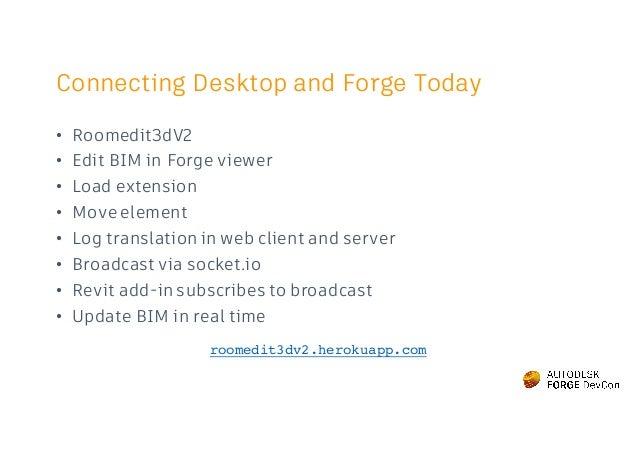 Forge - DevCon 2016: Free your BIM data