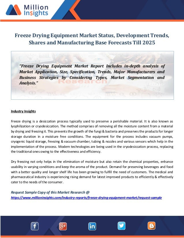 Freeze drying equipment market status, development trends