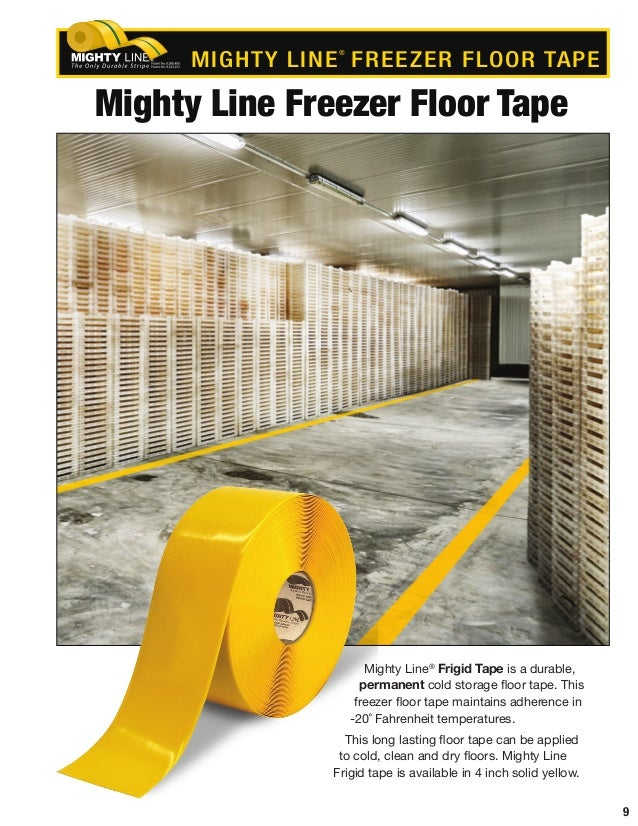 9 Mighty Line Freezer Floor Tape Mighty Line® Frigid Tape Is A Durable,  Permanent