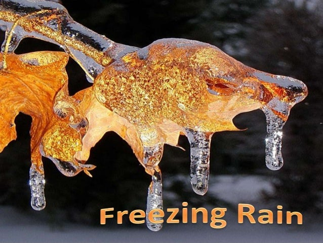 Freezing rain is the name given to rain that falls when surface temperatures are below freezing. Unlike rain and snow mixe...