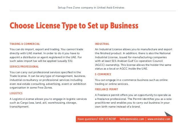 How to setup UAE free zone company