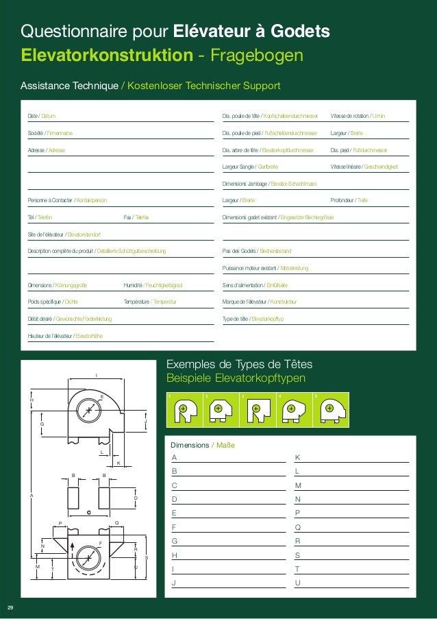 C  5  Exemples de Types de Têtes  Beispiele Elevatorkopftypen  A  B  C  D  E  F  G  H  I  J  K  L  M  N  P  Q  R  S  T  U ...