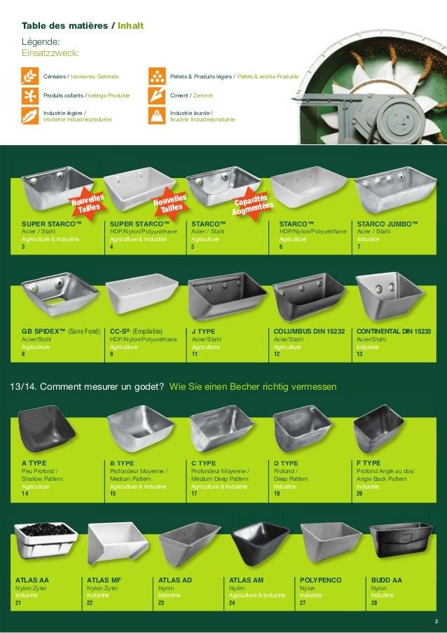 STARCO™  Acier / Stahl  Agriculture  5  STARCO™  HDP/Nylon/Polyuréthane  Agriculture  6  SUPER STARCO™  Acier / Stahl  Agr...