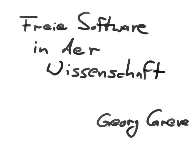 Freie Software in der Wissenschaft