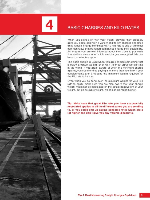 The 7 Most Misleading Freight Charges Explained Different Ways You Can Use To Pay Great Trucking Rates on