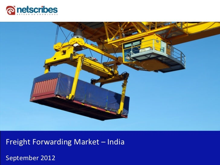 Insert Cover Image using Slide Master View                                Do not distortFreight Forwarding Market – IndiaS...