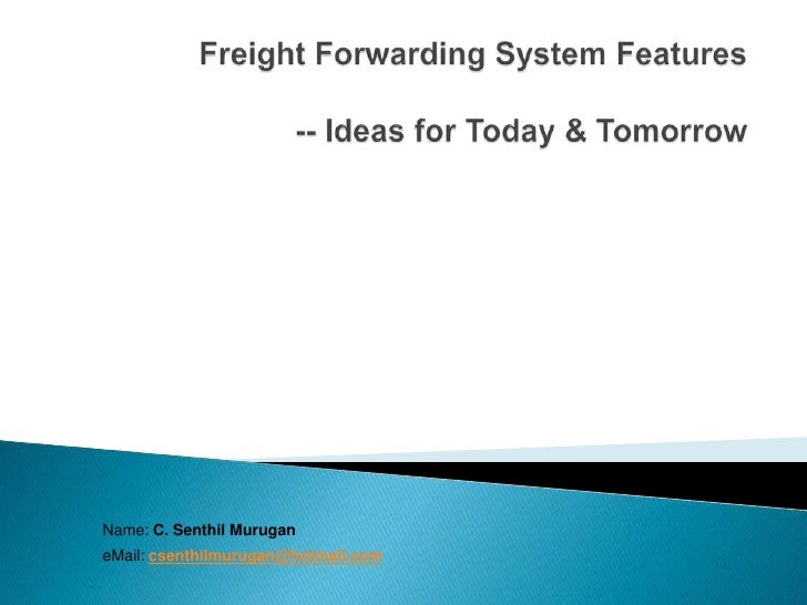 Freight Forwarding System Features Ver 1