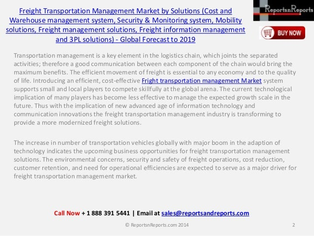 Global Freight Transportation Management Market (Security