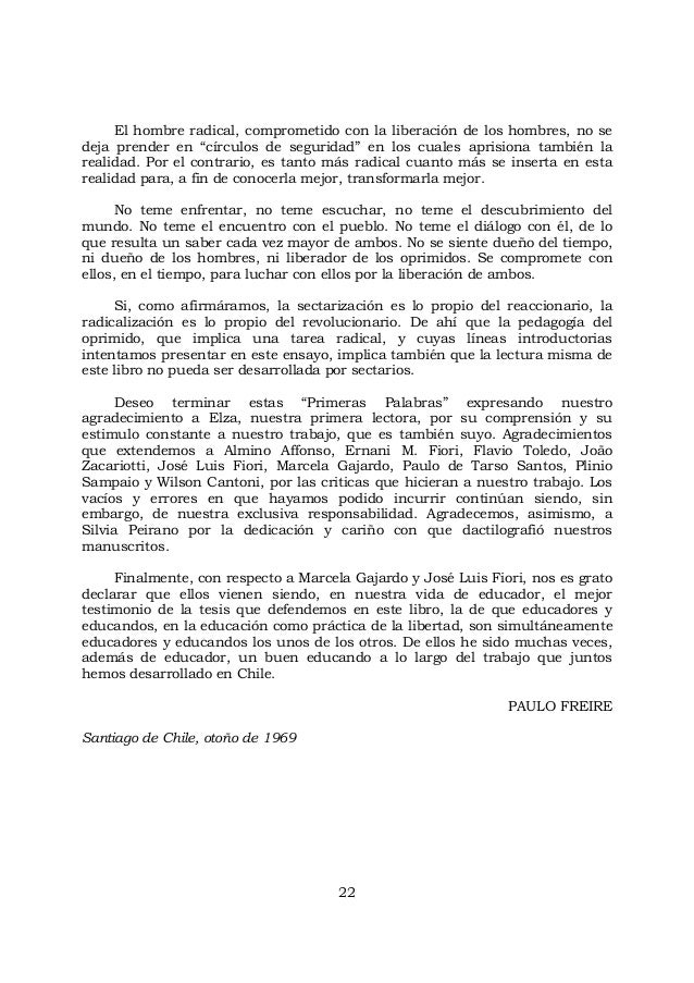 """22 El hombre radical, comprometido con la liberación de los hombres, no se deja prender en """"círculos de seguridad"""" en los ..."""