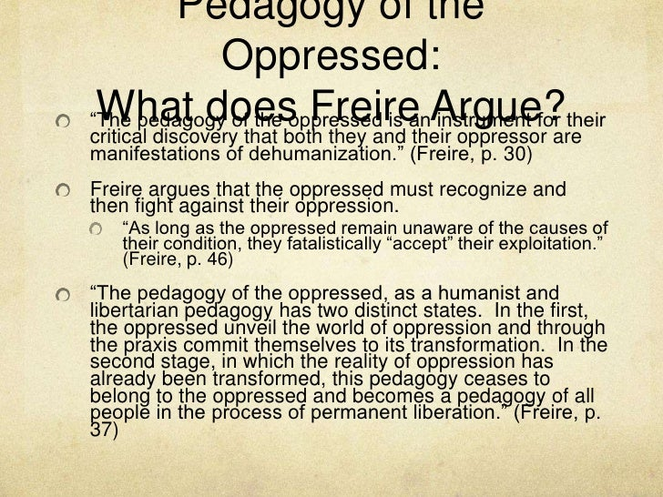 pedagogy of the oppressed analysis