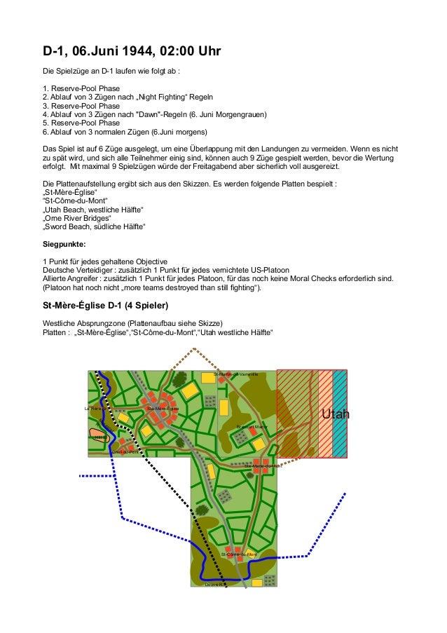 """D-1, 06.Juni 1944, 02:00 Uhr Die Spielzüge an D-1 laufen wie folgt ab : 1. Reserve-Pool Phase 2. Ablauf von 3 Zügen nach """"..."""