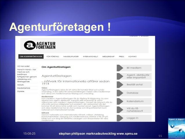 Agenturföretagen ! 15-08-25 stephan philipson marknadsutveckling www.spmu.se 55