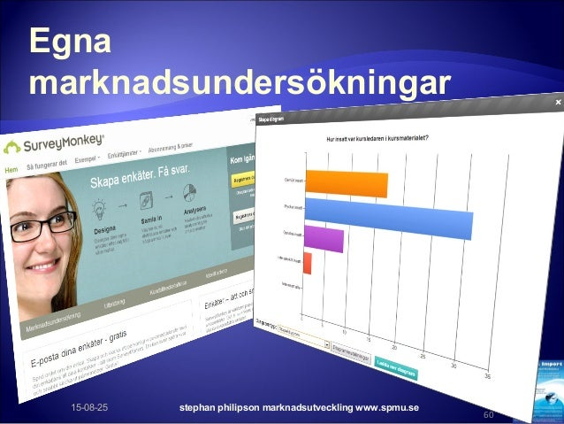 Egna marknadsundersökningar 15-08-25 stephan philipson marknadsutveckling www.spmu.se 60