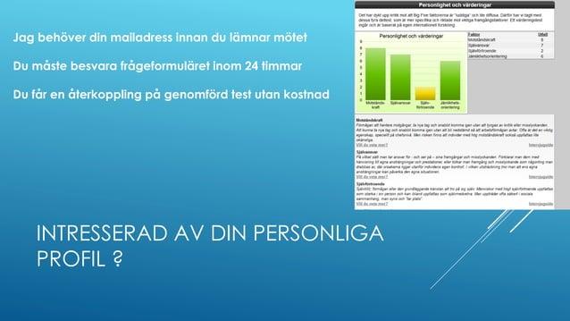"""Presentationsmaterial """"Föreläsning Personlig säljstil"""