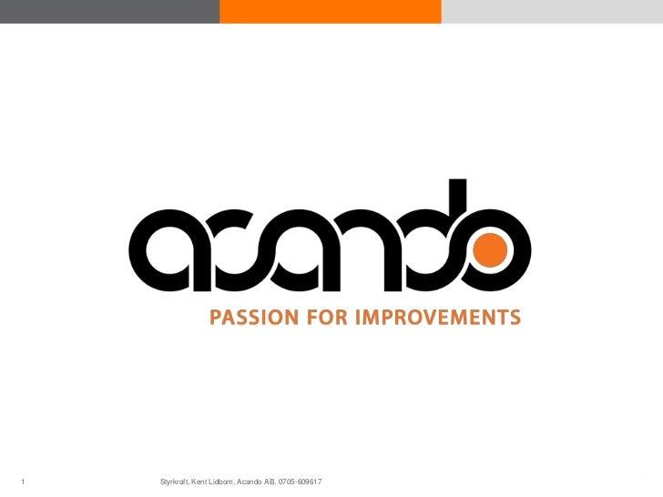 1 Acando AB©       © Acando AB   Styrkraft, Kent Lidbom, Acando AB, 0705-609617        © Acando AB