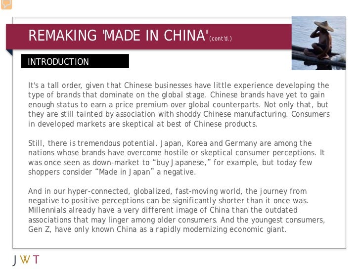 REMAKING MADE IN CHINA                           (contd.)INTRODUCTIONIts a tall order, given that Chinese businesses have ...