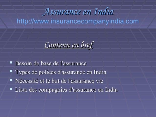 Assurance en India Slide 2