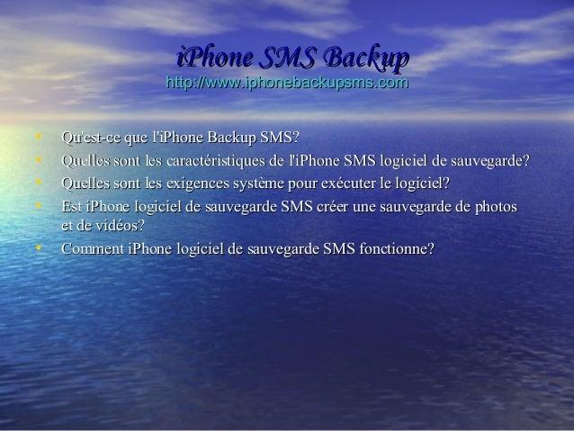 iPhone SMS Backup Slide 2