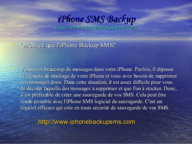 iPhone SMS Backup Slide 3