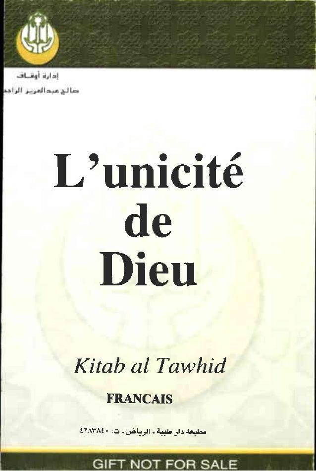 L'unicitê de Dieu Kitab al Tawhid