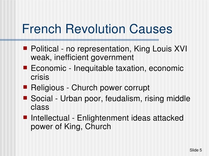 french revolution causes essay There are many reasons that the french revolution started the first of these causes was a poor harvest as the farmers in the third estate were the main suppliers.