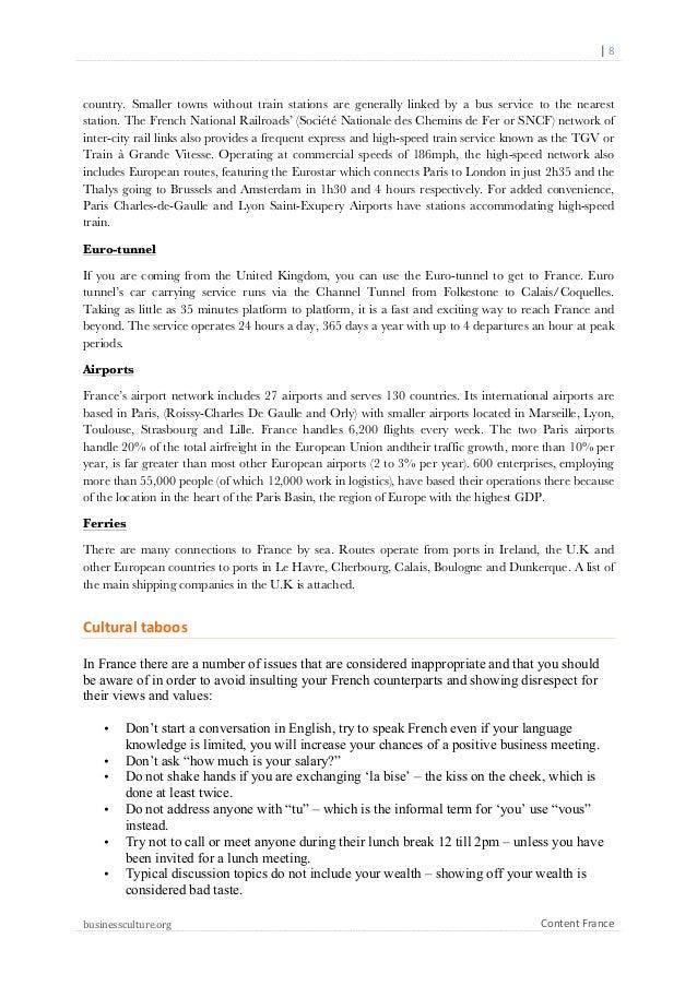 Custom National Culture of France Essay