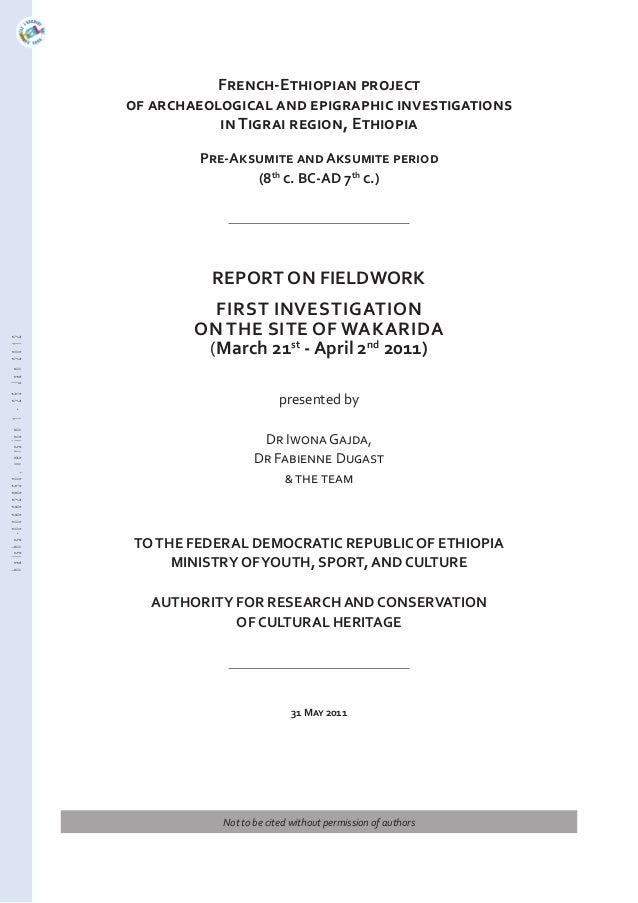 French-Ethiopian project of archaeological and epigraphic investigations in Tigrai region, Ethiopia Pre-Aksumite and Aksum...