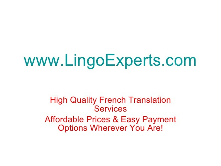 Translations Into Italian: English To French Legal Translation Services By